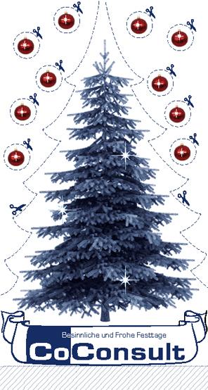 Weihnachtskarte von Mittelpünktchen