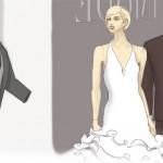 illustiertes Brautmodengeschäft von Heike Seelig