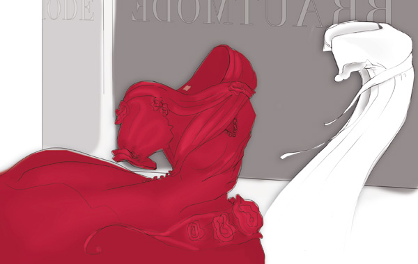 Illustration von Abendkleidern