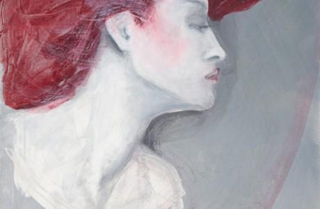 Acrylgemälde einer Frau von Heike Seelig