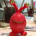 Alien Osterei vom Osterworkshop bei Mittelpünktchen