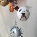 Unser Hund Spike als Osterei