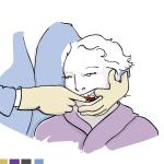 Illustration Pflegebroschüre für ZQP