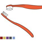 Zahnbürsten Illustration für Pflegebroschüre